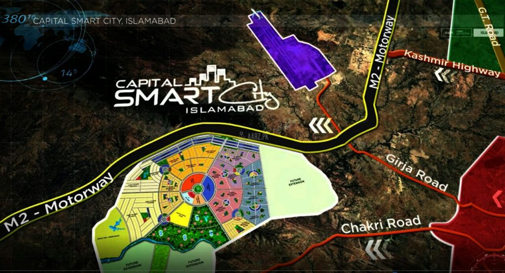 Capital Smart City Islamabad Location, Maps and Payment Plans